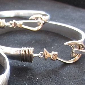 Gold & Silver Fish Hook Bracelet