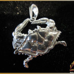 Sterling Silver Blue Crab Pendant - Steve's Custom Jewelers in Port Aransas, Texas.
