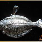 Sterling Silver Flounder Pendant