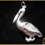 Sterling Silver Pelican Pendant ~ Steve's Custom Jewelers ~ Made in Port Aransas, Texas.