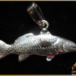 Sterling Silver Redfish Pendant - Steve's Custom Jewelers - Made in Port Aransas, Texas.