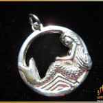 Sterling Silver Resting Mermaid Pendant - Steve's Custom Jewelers - Made in Port Aransas, Texas.