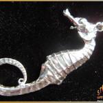 Sterling Silver Seahorse Pendant ~ Steve's Custom Jewelers ~ Made in Port Aransas, Texas.