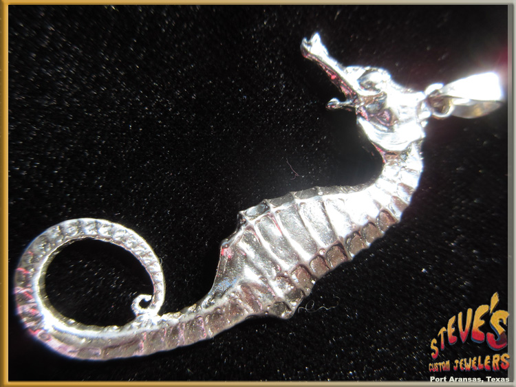 Sterling silver seahorse pendant steves custom jewelers sterling silver seahorse pendant steves custom jewelers made in port aransas texas aloadofball Image collections