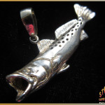 Sterling Silver Speckled Trout Pendant