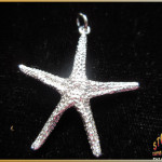 Sterling Silver Starfish Pendant - Steve's Custom Jewelers - Made in Port Aransas, Texas.