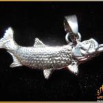 Sterling Silver Tarpon Pendant - Steve's Custom Jewelers - Made in Port Aransas, Texas.