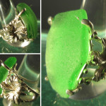 Steve's Custom Jewelers ~ Sterling Silver Emerald Green Sea Glass Ladies Ring