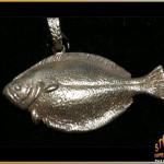 14K Gold Flounder Pendant - Steve's Custom Jewelers