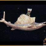 Gold Sailfish Pendant - 14K