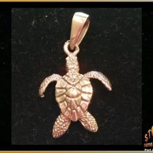 14 K Gold Sea Turtle Pendant