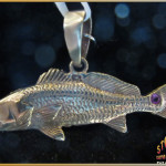 Redfish Jewelry 14K Gold with Ruby Pendant