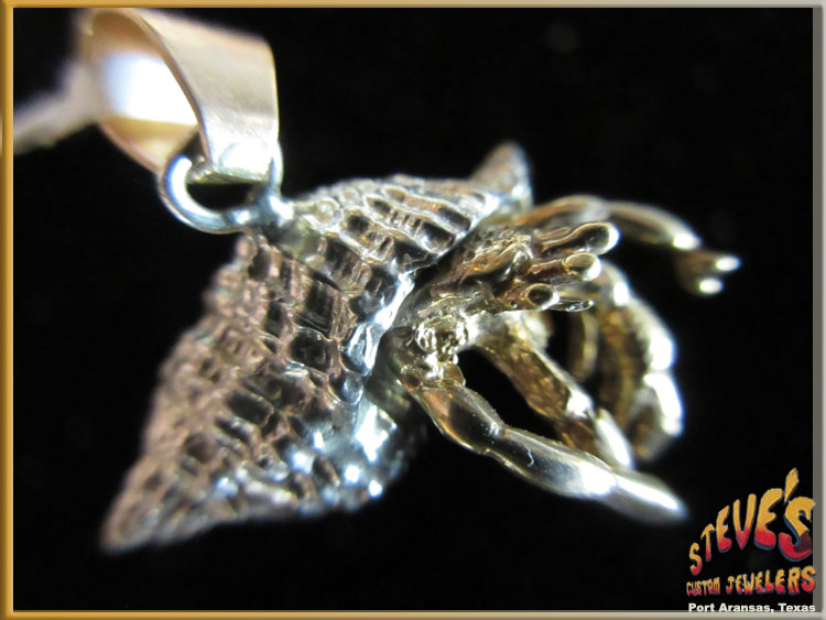 Hermit crab jewelry 14k gold sterling silver pendant steves hermit crab jewelry 14k gold sterling silver pendant aloadofball Images