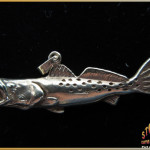 Speckled Trout Jewelry Pendant 14K Gold
