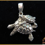 Sea Turtles Pendant 14K Gold