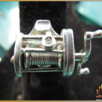 Fishing Reel Mens Ring Sterling Silver
