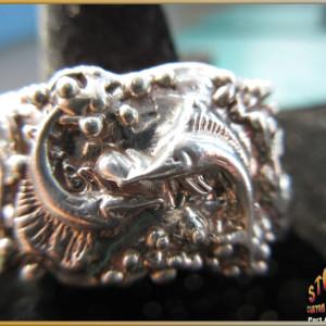 Sterling Silver Men's Sailfish and Marlin Ring