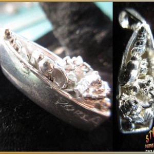 Boat with Seashells Pendant Port Aransas Farley Boats Sterling Silver
